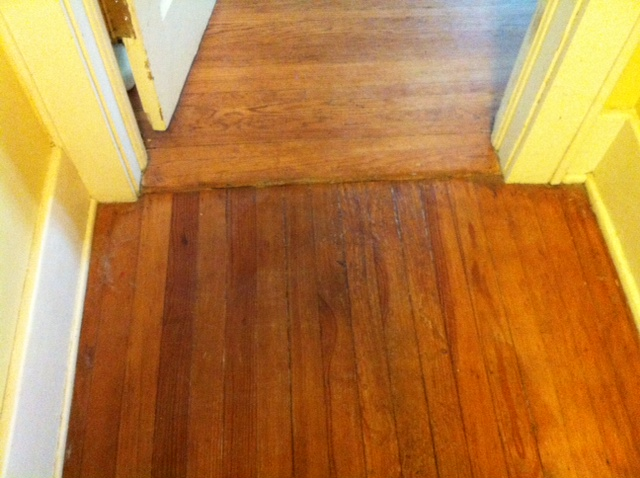 hardwood floor after refinishing with coconut oil