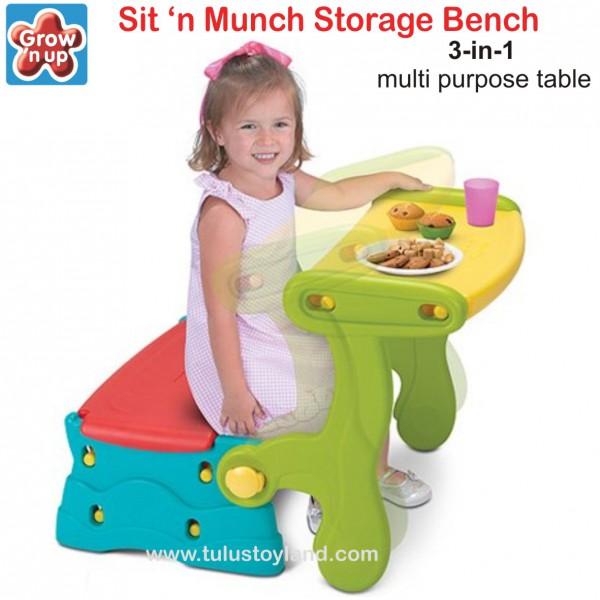 Grow N Up Sit N Munch Storage Bench Meja Kursi Anak