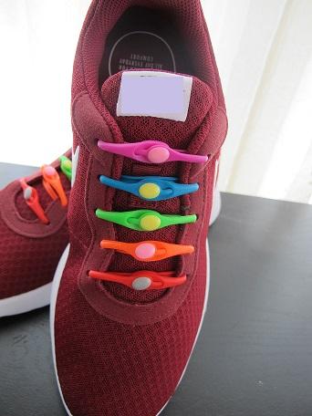 No tie shoelaces rainbow