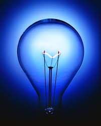blue light bulb