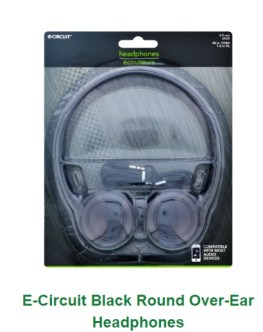 over ear headphones from the Dollar  Tree