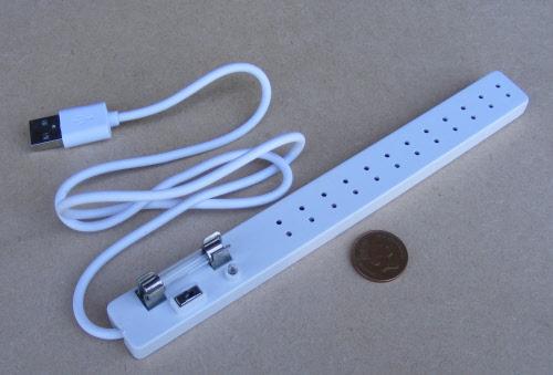 12 socket usb fused lighting strip tumdee dolls house miniature