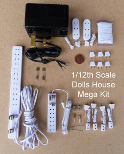 dolls house miniature 12 volt lighting accessory mega starter kit