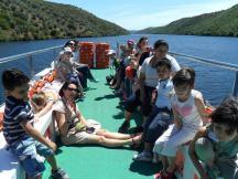 Un momento de relax en la cubierta del barco