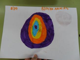 Pintamos nuestro bizcocho en un papel