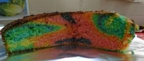 Aquí tenemos nuestro bizcocho de colores