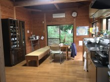 Guesthouse kitchen and dining area