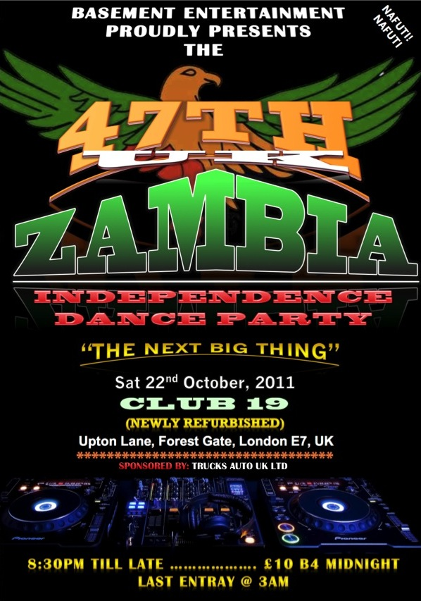 UK Zambia Independence Dance Party