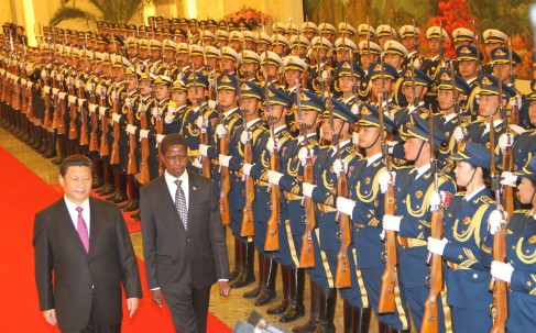 President Lungu Inspects Guard Of Honour In China
