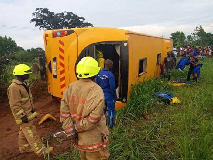 SAD: Power Tools Bus Over Turns With Several Passengers On Board