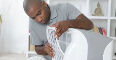 portable air conditioner exhaust gets hot