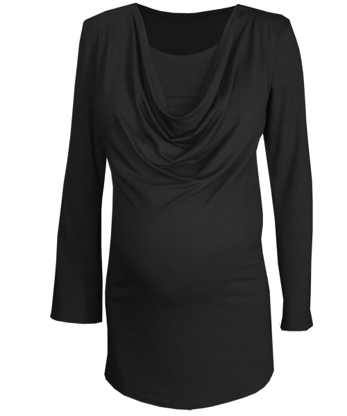 Drape Cowl breastfeeding maternity top