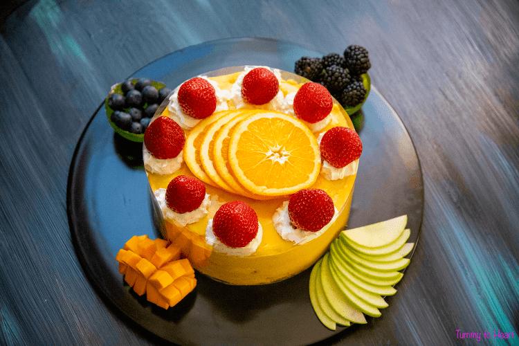 eggless custard cake ready