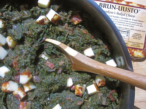 Palak Paneer with Red Chard