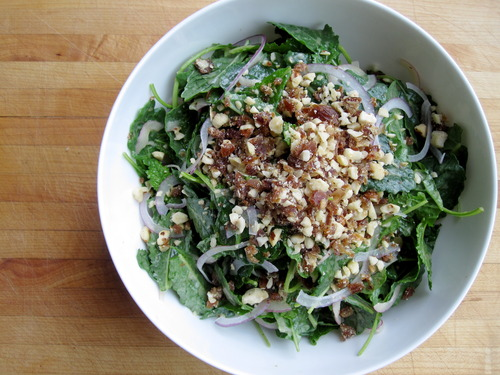 Kale Salad with Hazelnuts, Dates, and Orange