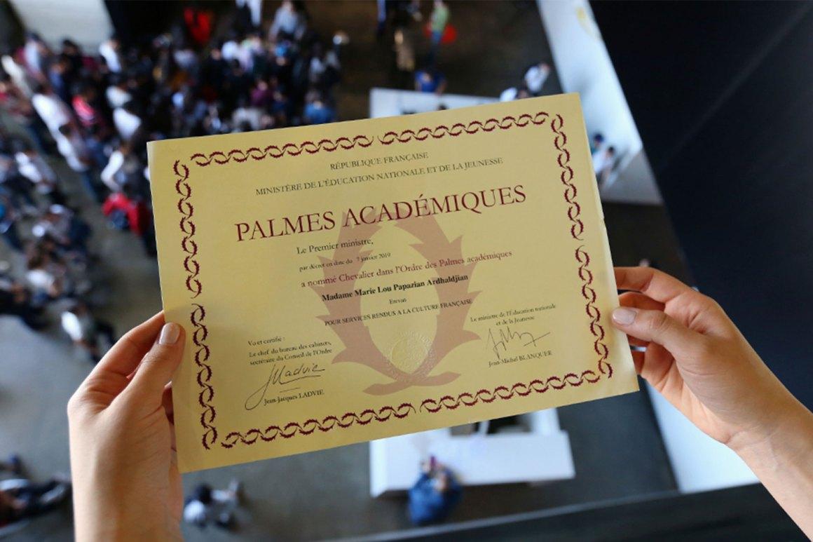 Մարի Լու Փափազյանը`Palmes Académiques շքանշանակակիր