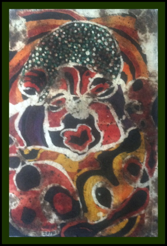 """Speak Out Your Mind,"" 30"" x 19.5"", batik on handmade paper"