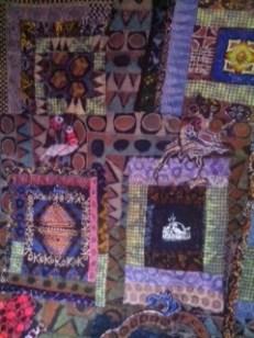 """""""Osun,"""" batik quilt tapestry"""