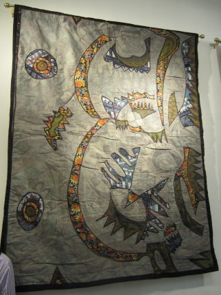 """Our Camoflauged World"" batik quilt"