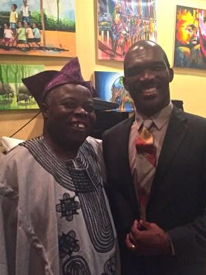 Tunde Odunlade with Nigerian artist