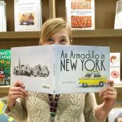 Children's Book Editor got behind An Armadillo in New York