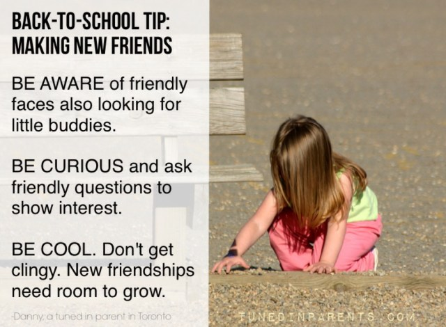 Tuned In Parents - back-to-school tips for making new friends