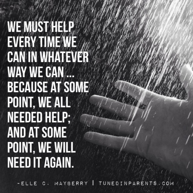Elle C. Mayberry quote on helping others