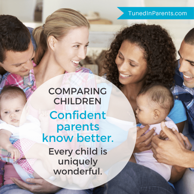 Tuned In Parents - parenting quote by Elle C. Mayberry about comparing children