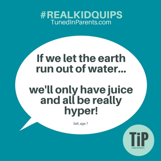 Don't you love how kids get right to the real issues? It's not over-population or dying oceans. Nope. The real problem with climate change is a global sugar rush. (Every zombie movie needs a rewrite.)