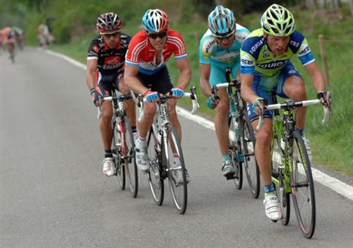 A break away in the 2007 Fleche Wallone.  Picture from velonews.com