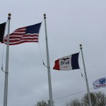 Flags at Lawler, Iowa