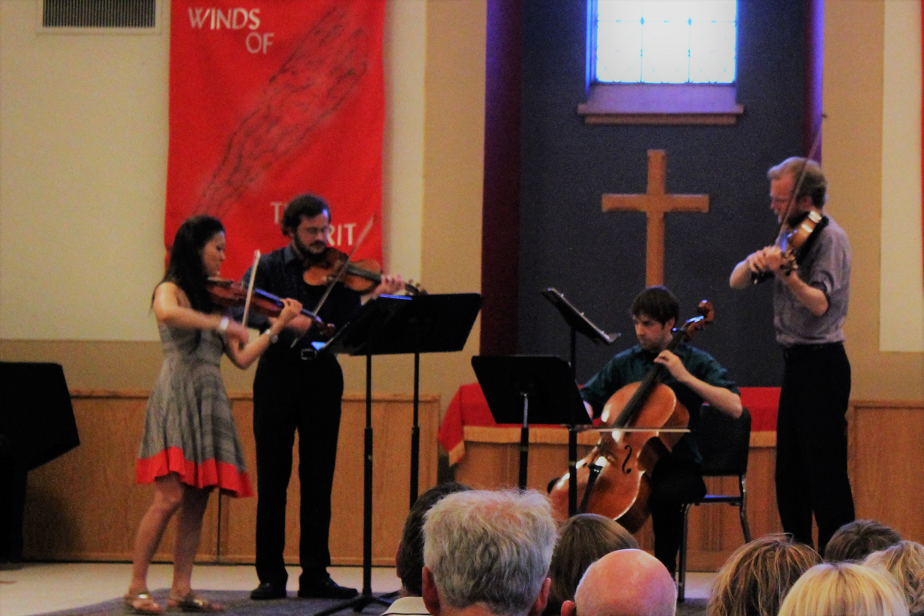 The Lux String Quartet perform at the 2017 Oskaloosa Music Festival