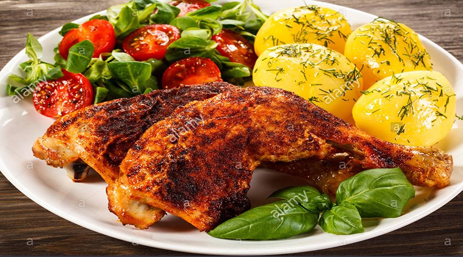 Pollo al Horno con Ensalada