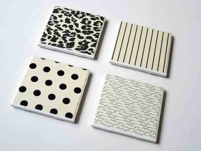 17 DIY handmade Gifts You'd actually want: tile coasters
