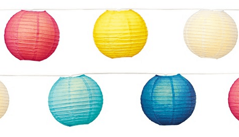 Paper Lantern String Lights from Target - 2015 Gift Guide