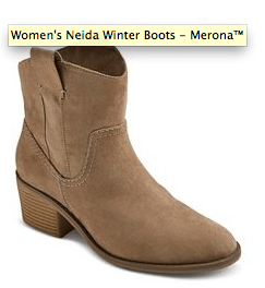 2015 gift guide women's taupe bootie from target