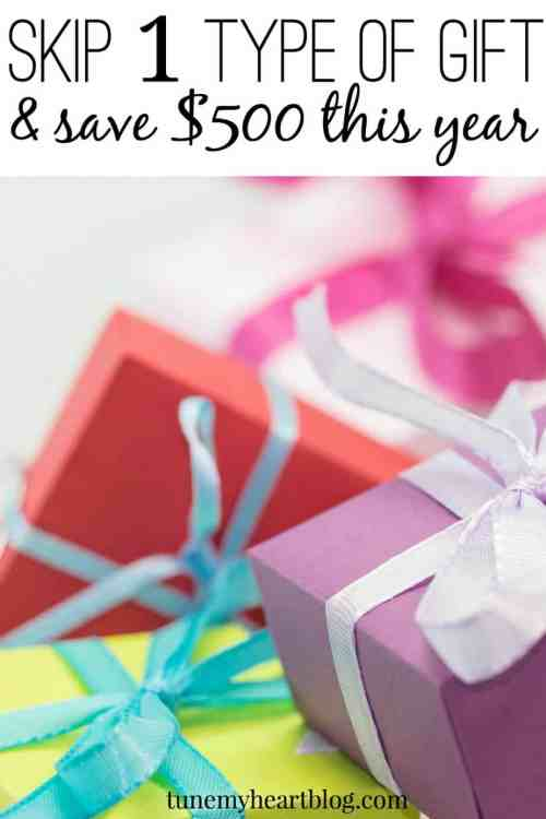 Doing these 50 small things will save you $10,000 this year! One idea - skip gifts with your spouse for a whole year and save at least $500. Here are some alternatives to expensive gift-giving.