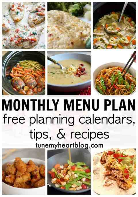 November monthly menu plan. Every month I post my dinner monthly menu plan with links to all the recipes. The meals are mostly kid friendly, quick, easy, & healthy. Enjoy!