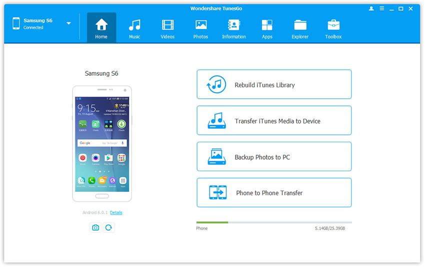 backup android phone to pc