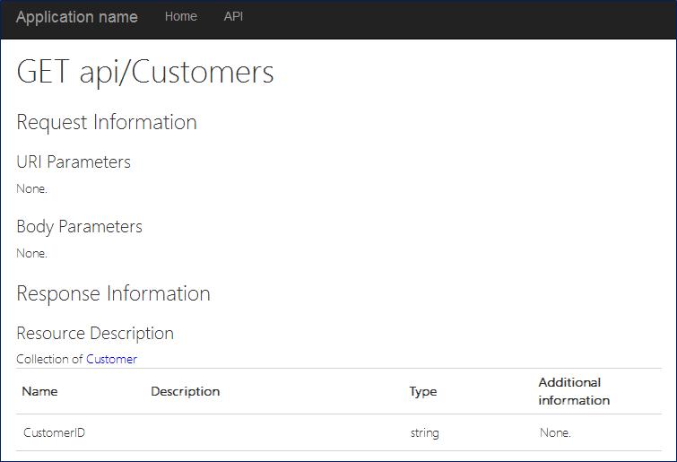 Web API Help Page