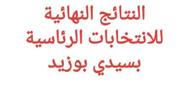 Photo of النتائج النهائية للانتخابات الرئاسيّة السابقة لاوانها في سيدي بوزيد