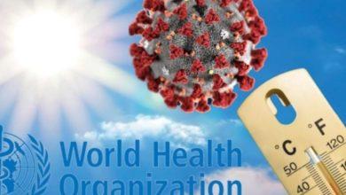 Photo of منظمة الصحة العالمية توضح بخصوص ارتفاع حرارة الجو وعلاقته بالقضاء على فيروس كورونا