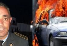 Photo of المكنين : منحرفون يضرمون النار في سيارة رئيس مركز شرطة المرور