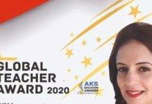 """Photo of إختيارها كأفضل معلّمي العالم من 110 دولة، تونسيّة تفوز بجائزة """"المعلّم العالمي"""""""