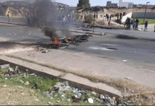 Photo of سبيطلة : عائلة عبد الرزاق الخشناوي تغلق الطريق الرئيسية