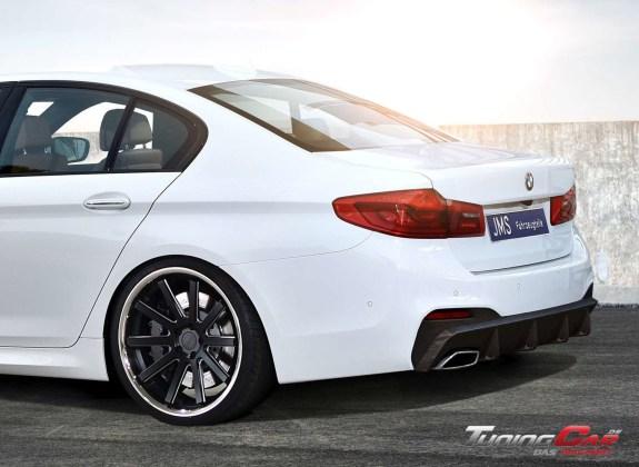 BMW G30 JMS Heck mit carbon Original Auspuff Schräg
