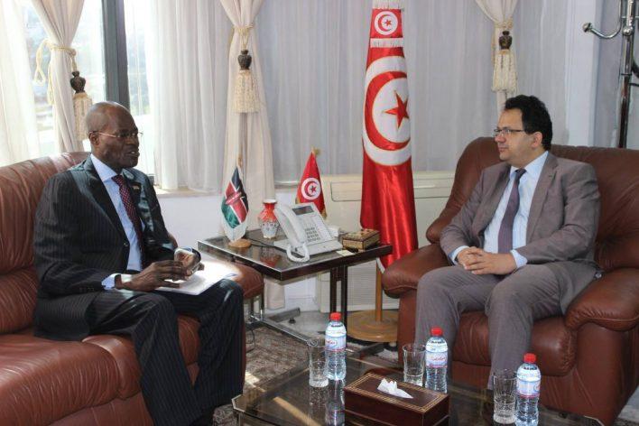 وزير الصناعة والتجارة يلتقي بسفير كينيا