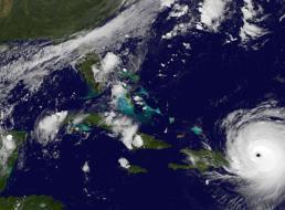 صور فضائية أخرى لإعصار إيرما