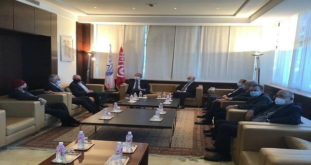 الاتحاد-العام-التونسي-للشغل_والوفد الليبي
