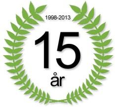 15 år i 2013